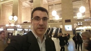 Oskar Espina Ruiz at Grand Central in NYC. This really was a tight touring schedule: Sat night concert in Provo, UT; Sun-Mon at Treetops CMS in Stamford, CT; Tue concert in Boise, ID...